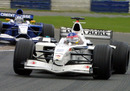 Jacques Villeneuve in his BAR Honda at Silverstone
