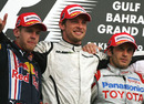 Jenson Button wins his third race ahead of Sebastian Vettel and Jarno Trulli