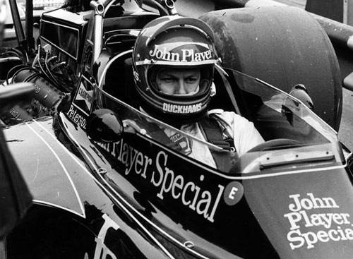 Ronnie Peterson in his iconic John Player Special Lotus-Ford