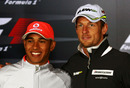 Lewis Hamilton with Jenson Button