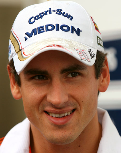 Adrian Sutil outside the Williams garage at Interlagos