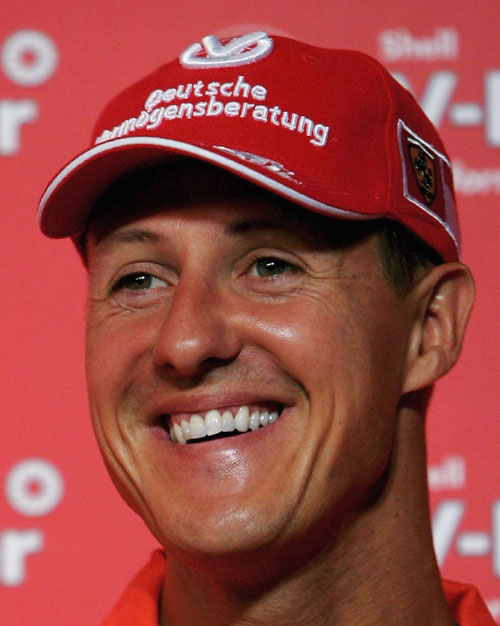 Michael Schumacher faces the media ahead of the Turkish Grand Prix