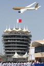 A fly by at the Bahrain Grand Prix