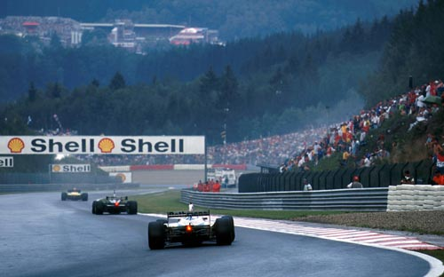 Traditional weather for the Belgian Grand Prix