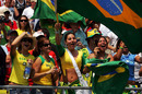 Brazilian fans enjoy the racing at Indianapolis