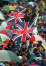 British fans cheer on local hero Damon Hill at Silverstone