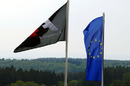 Flags fly for the European Grand Prix