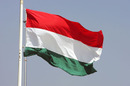 The Hungarian flag flies at the Hungaroring