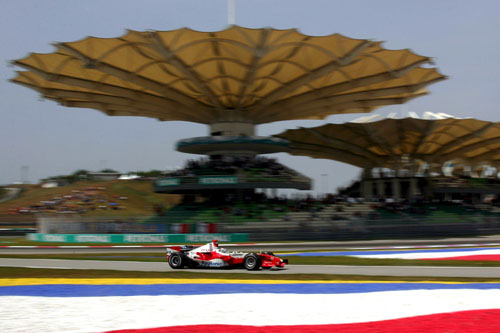 Toyota's Jarno Trulli in action in Malaysia
