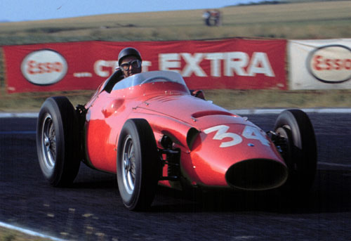 Juan Manuel Fangio in his lightweight Maserati 250F