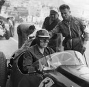 Mike Hawthorn in his Ferrari car at Monaco during practice
