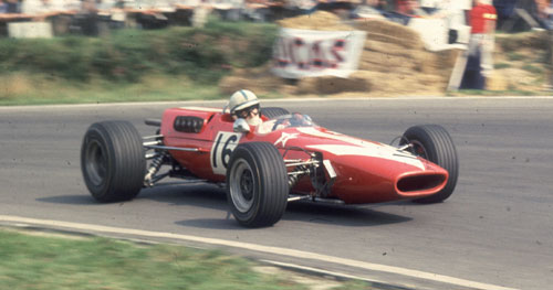John Surtees competing in the Guards Trophy