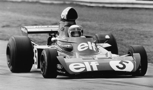 Jackie Stewart in action during the British Grand Prix