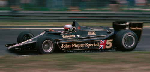 Mario Andretti on his way to a win in the Lotus 79