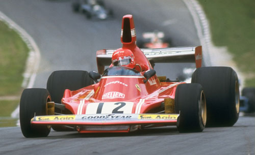 Niki Lauda in action in his Scuderia Ferrari