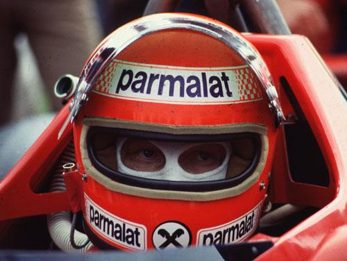 Niki Lauda in his F1 Brabham Alfa Romeo