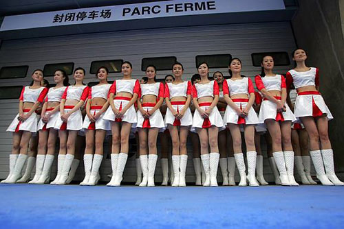 Chinese grid girls in Shanghai
