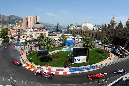 The start of the Monaco Grand Prix