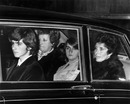 The family of Graham Hill arrive at his funeral