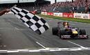 Sebastian  Vettel takes victory for Red Bull in Britain