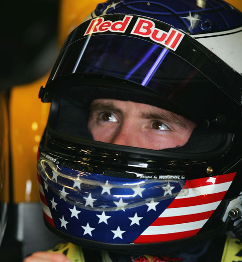 Scott Speed has a seat fitting prior to the Canadian F1 Grand Prix