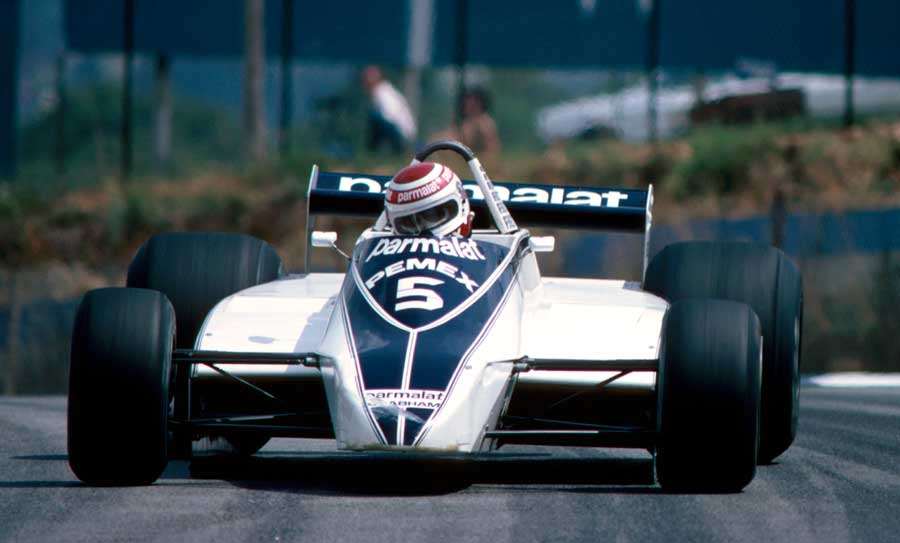 Nelson Piquet at the non-championship race at Kyalami