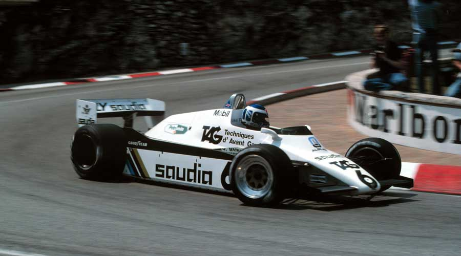Keke Rosberg retired at Monaco with broken suspension
