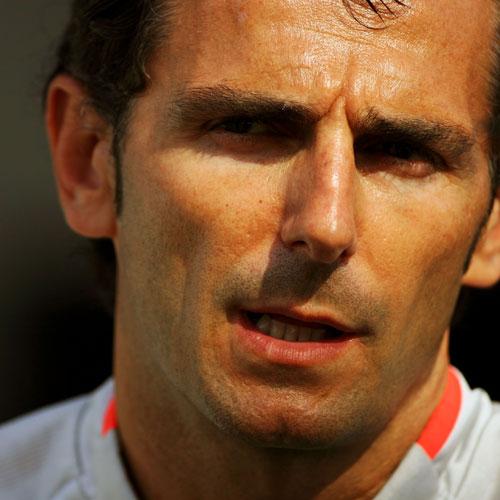 Pedro de la Rosa in the paddock at Valencia