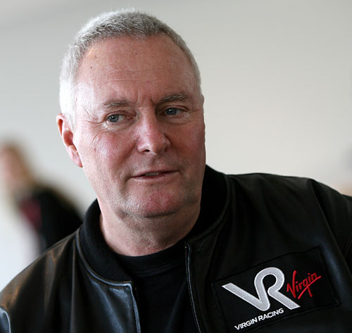 Manor's founder John Booth at the Virgin launch