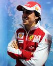 Fernando Alonso in full Ferrari kit