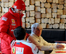 Bernie Ecclestone made an appearance at Ferrari's press event