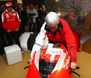 Bernie Ecclestone tried a MotoGP bike out for size