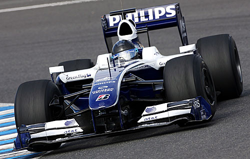 Nico Hulkenberg drove a 2009 Williams