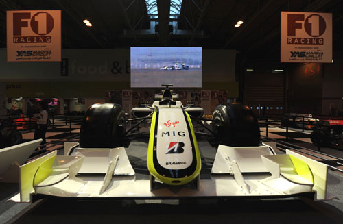 Jenson Button's championship winning car on display at the NEC