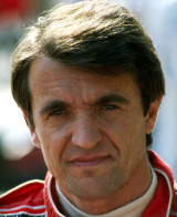Piercarlo Ghinzani lors de son dernier Grand Prix en 1989