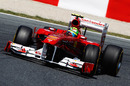 Felipe Massa struggles to get his Ferrari turned into the corner