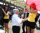 Bernie Ecclestone hard at work