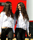 HRT girls arrive in the paddock