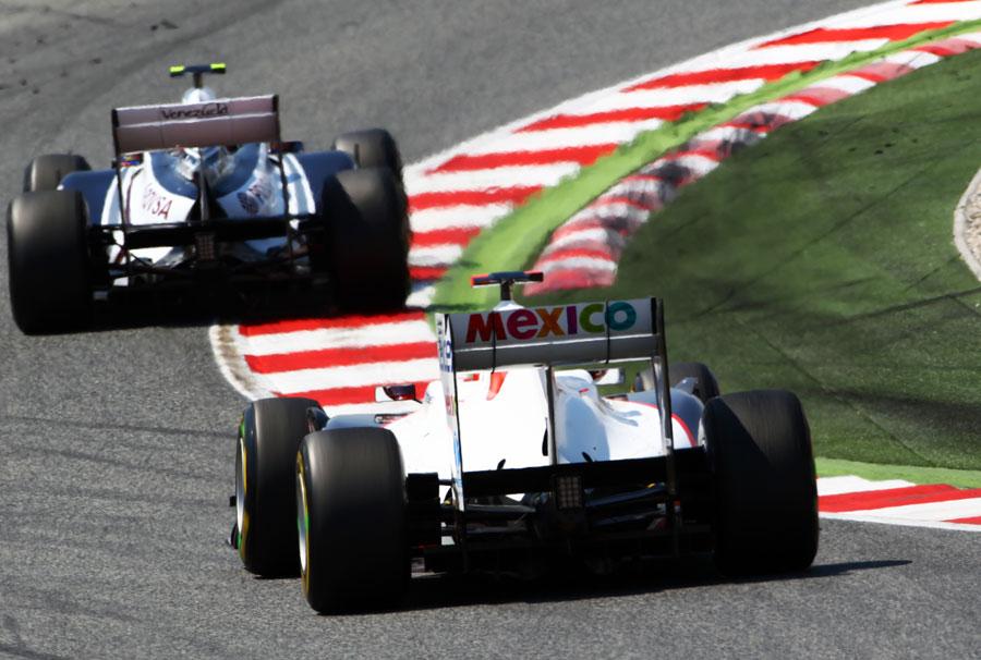 Kamui Kobayashi follows Pastor Maldonado
