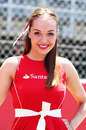 A grid girl at the Spanish Grand Prix