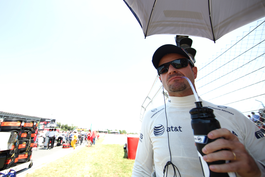 A pensive Rubens Barrichello before another disappointing race