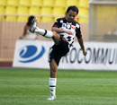 Felipe Massa in action during a charity football match in Monaco