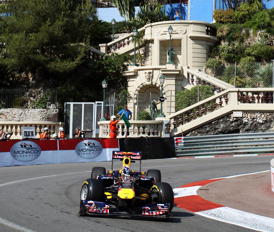 Sebastian Vettel Tackles The Hairpin Outside The Fairmont Hotel Monaco Grand Prix Photos Espn Co Uk