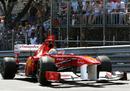 Fernando Alonso attacks the final corner