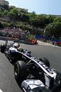 Pastor Maldonado attacks the last corner
