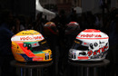 McLaren unveil the special diamond-encrusted helmet designs for Jenson Button and Lewis Hamilton