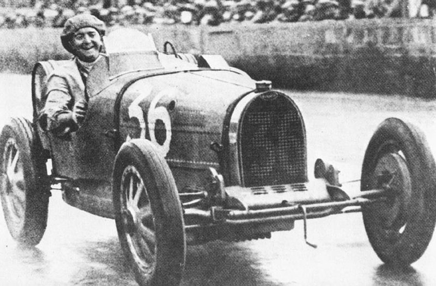 William Grover-Williams on his way to victory at the French Grand Prix