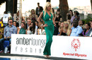 Victoria Silvstedt models at the Amber Lounge Fashion Event in Monaco on Friday night