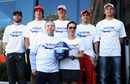 Nick Heidfeld, Fernando Alonso, Michael Schumacher, Felipe Massa and Nico Rosberg show their support with Jean Todt and Michelle Yeoh for the FIA's 'Action for Road Safety' campaign