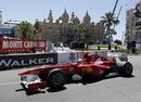 Fernando Alonso heads through Casino Square